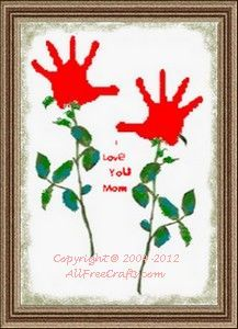 Handprint flowers for Mom on Mother's day