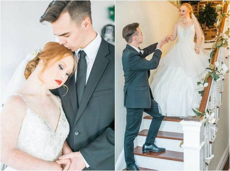Jovem com síndrome de Down impressiona em suas fotos de casamento