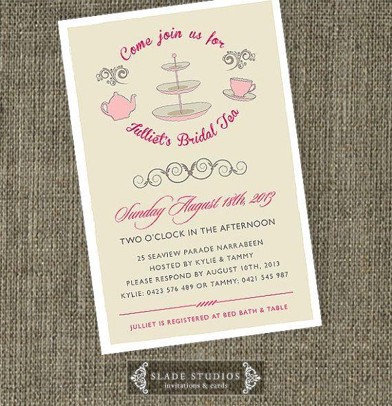 Retro Bridal Tea invitations Bridal Shower Kitchen by SladeStudios, $20.00