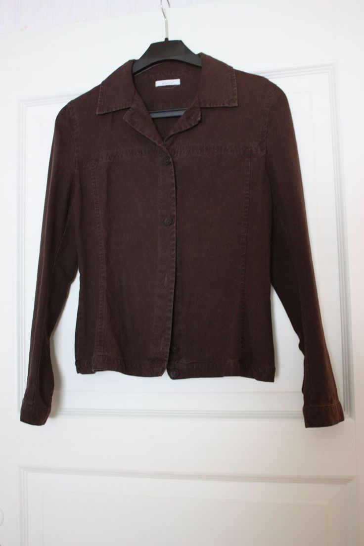Shirt blazer dark brown