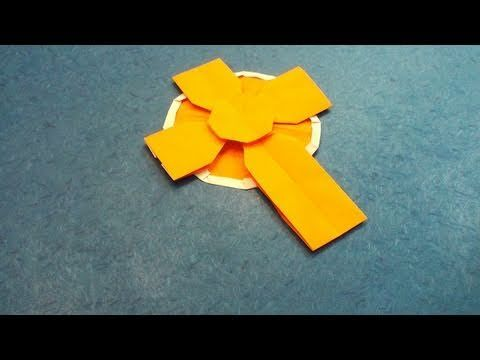 Origami celtic cross. Long video with very clear, step-by-step instructions.