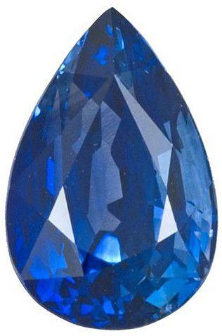 Blue Sapphire Loose Gemstone, Pear Cut, 9.67 x 6.4 mm, 2.75 Carats at BitCoin Gems