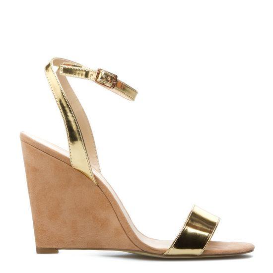 Sherrylin Gold Wedges   ShoeDazzle