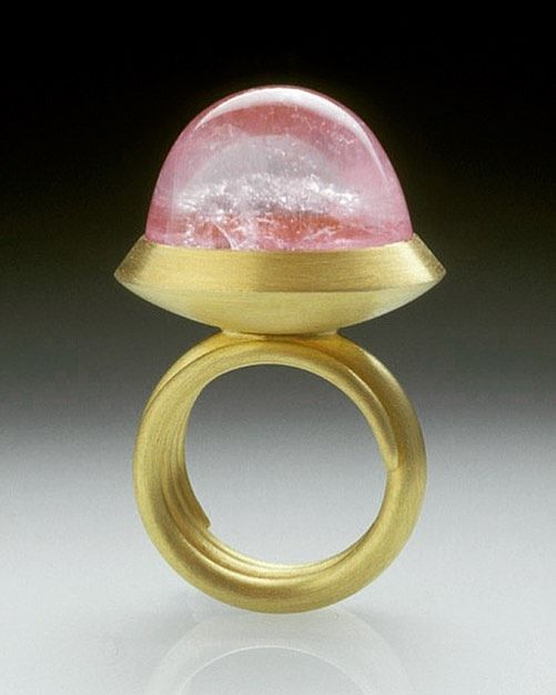 """Mark Nuell on Instagram: """"Ring from 2006 #goldandpinktourmaline with forged gold spiral band. #throwbackthursday #tbt #jewellery #goldandpink #goldsmith #handmade…"""""""