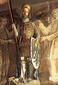 Wenceslaus I, or Wenceslas I, was the duke of Bohemia from 921 until his assassination in 935, purportedly in a plot by his own brother, Boleslav the Cruel. His martyrdom, and the popularity of several biographies, quickly gave rise to a reputation for heroic goodness, resulting in his being elevated to Sainthood, posthumously declared king, and seen as the patron saint of the Czech state. He is the subject of Good King Wenceslas, a carol written over 900 years later.