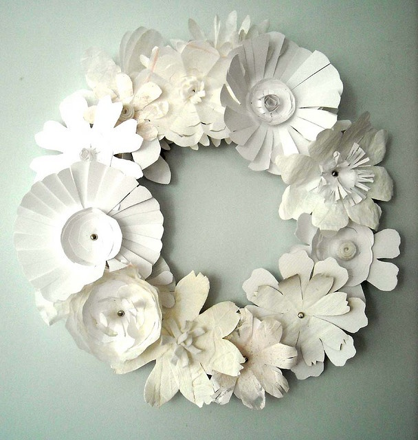 paper flower wreath.