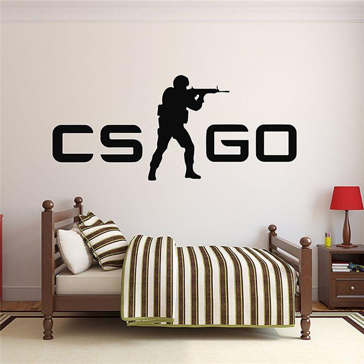Наклейка на стену cs:go