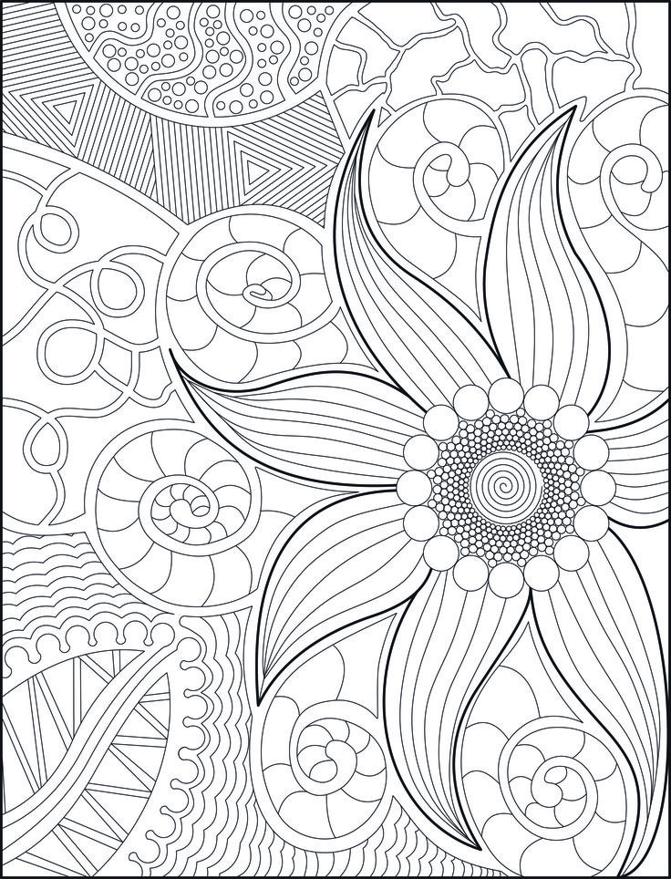Adult Coloring Book Page For Grown Ups