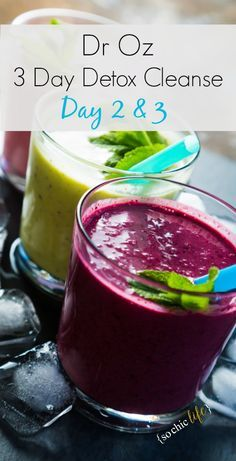 Dr Oz 3 Day Detox Cleanse Complete! What happened on day two and three?