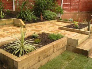 Garden Design Using Sleepers best 25+ retaining wall bricks ideas on pinterest | garden