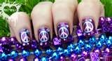 Purple  Peace nails: Skirts Style, Peace Nails, Nails Design Peace Signs, Nail Art Designs, Peace Sign Nails, Nails Polish, Purple Peace, Nails Art Design, Peace Signs Nails