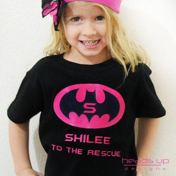 Batman Girl Shirt Superhero Batman Costume Girl by HeadsUpandUp