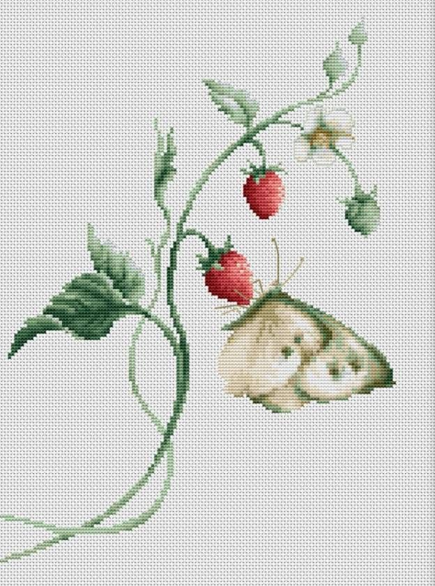 In this cross stitch kit by Luca-S, one can almost taste the sweet scent of summertime. The pattern evokes an extraordinary amount of detail with just...