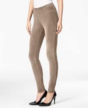 Style & Co Petite Corduroy Leggings, Only at Macy's - Tan/Beige P/M