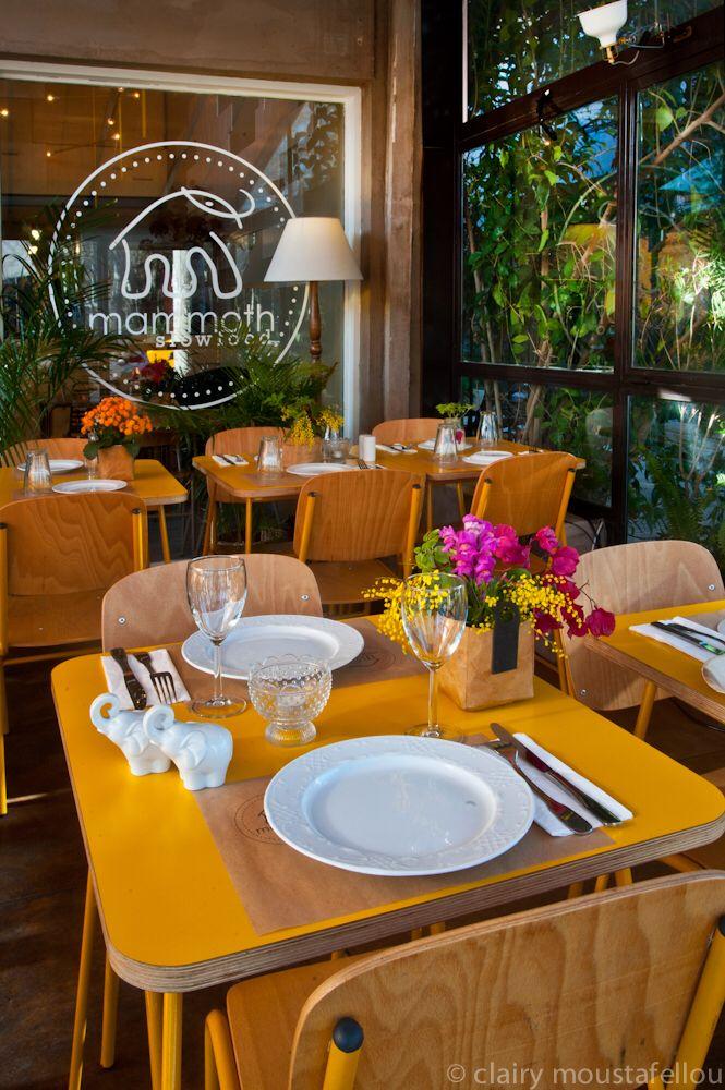 """mammoth-slow food"" Restaurant in Athens Thetidos 1, Vrilissia  Architect Bela Louloudaki"
