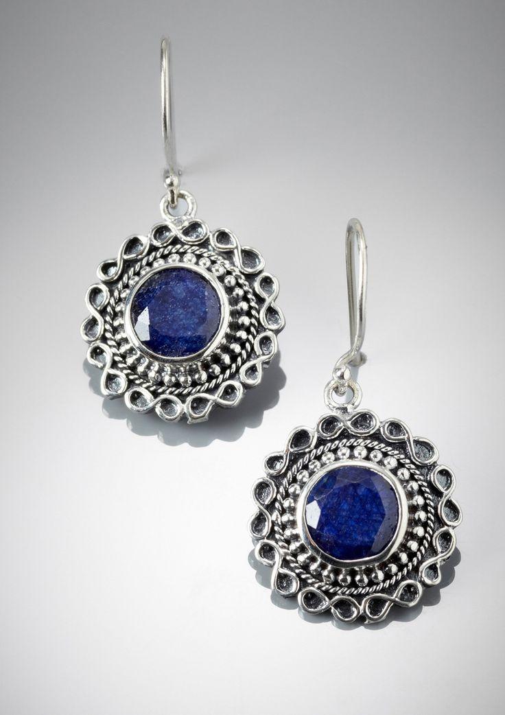 SAMUEL B. Sterling Silver Round Drop Earrings