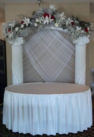 decorated wedding columns 1000 ideas about wedding arch tulle on 3349
