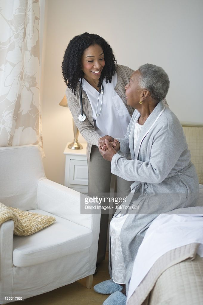 Nurse Helping Woman Get Out Of Bed Getting Out Of Bed Women