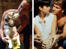 romantische Filmszenen mit Hund nachgestellt