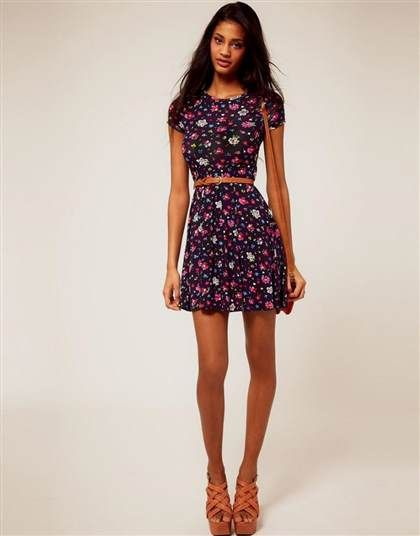 Nice floral skater dress outfit 2018-2019 Check more at http://24myfashion.com/2016/floral-skater-dress-outfit-2018-2019/