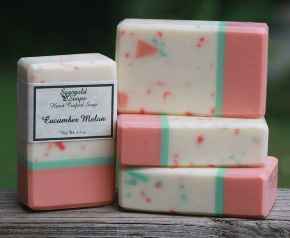 Cucumber Melon Handmade Artisan Soap by sagegold on Etsy, $4.75