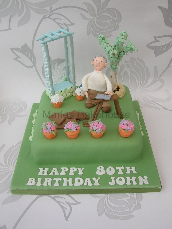 1000 images about father in laws 80th birthday cake ideas for Gardening 80th birthday cake