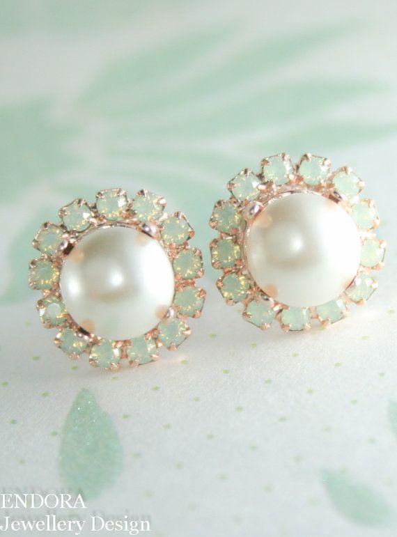 Crystal earrings Bridesmaid earrings Swarovski by EndoraJewellery