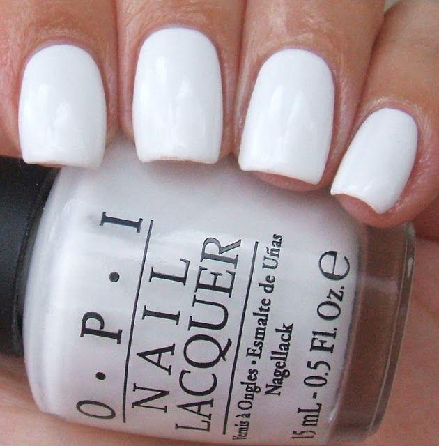 white nails for summer.