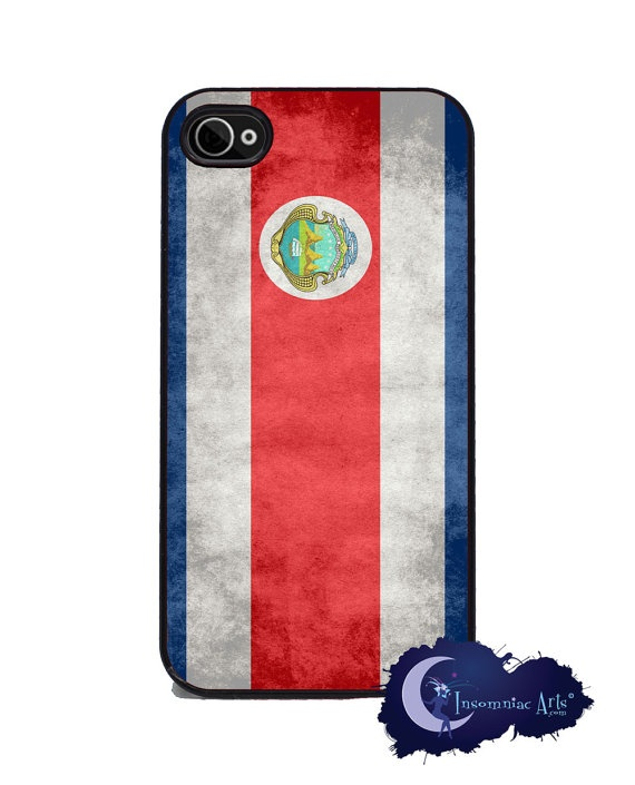 Costa Rican Flag iPhone 4 and 4s Cover by InsomniacArts on Etsy, $15.99