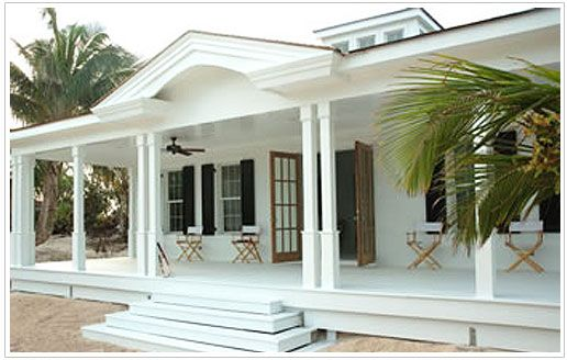 Guest house by India Hicks. Love the white veranda!