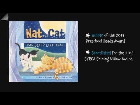 Nat the Cat Can Sleep Like That Book Trailer - YouTube