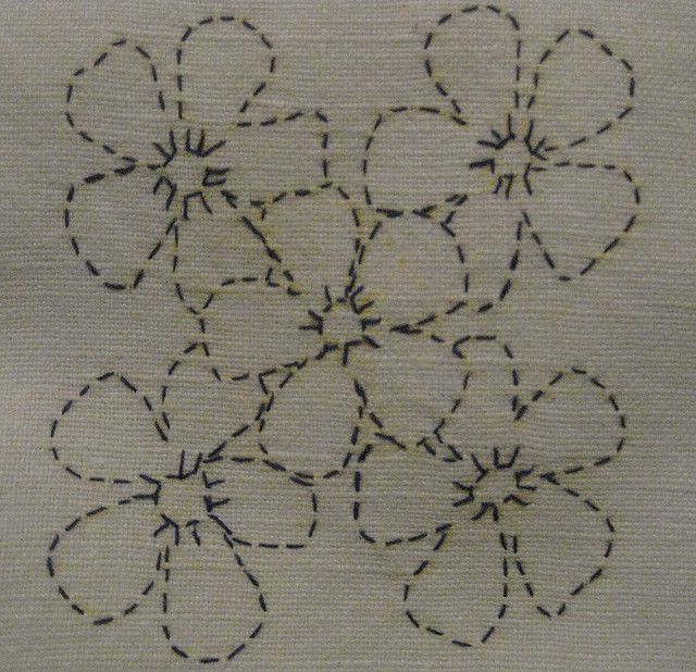 sashinko flowers