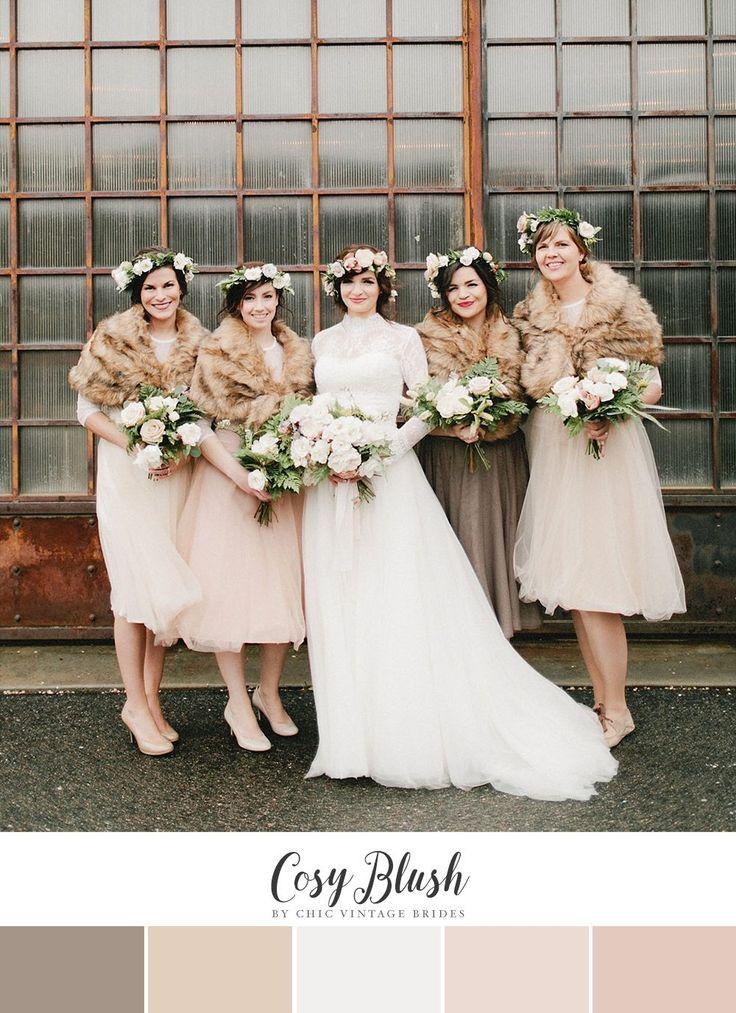 10 Alternative - Yet Romantic - Winter Wedding Color Palettes