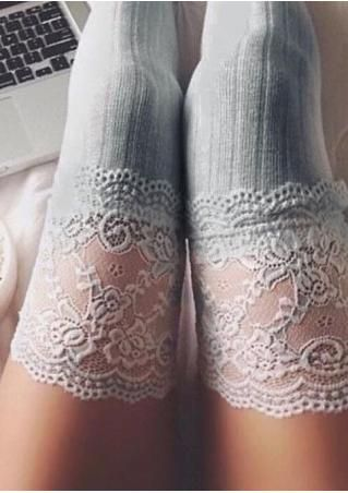 Floral Lace Thigh High Socks                                                                                                                                                                                 More