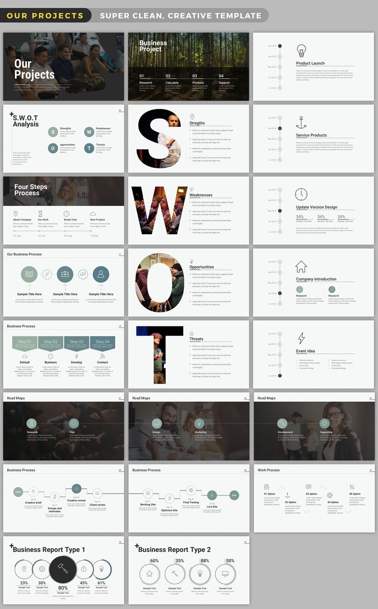 Wild Powerpoint presentation template via Creative Market.