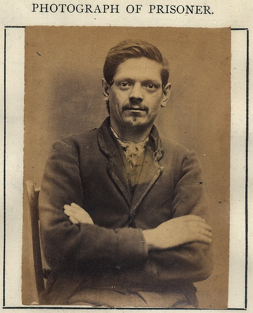 """John Bolton  by Tyne & Wear Archives & Museums, via Flickr  John Bolton    John Bolton was convicted of stealing leather, he had previously served 9 months for theft, on this occasion he served 6 months with hard labour.    Age (on discharge): 26  Height: 5'4 1/2""""  Hair: Dark Brown  Eyes: Hazel  Place of Birth: Newcastle  Status: Single  Occupation: Shoemaker    These photographs are of convicted criminals in Newcastle between 1871 - 1873."""