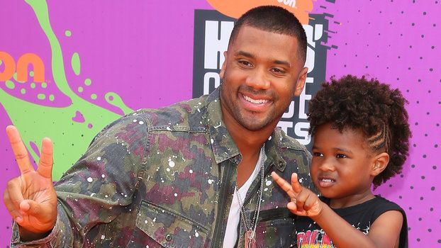 Ciara's Son Future and Husband Russell Wilson Twinned at the Nickelodeon Kids' Choice Awards