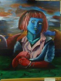 Self portrait, 2011 (acrylic paint)