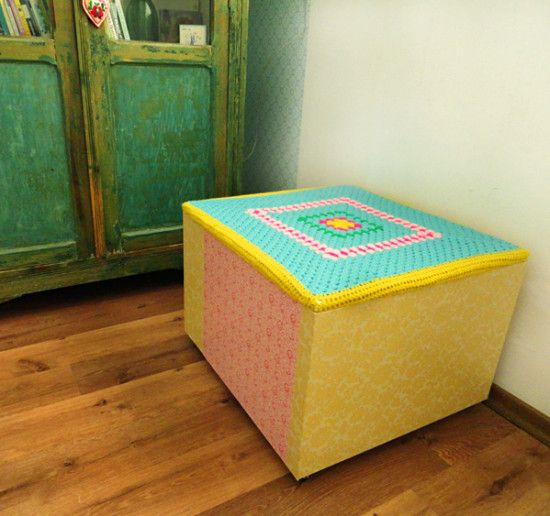38 best images about foot stools and tufflet on pinterest floor cushions ottomans and patterns - Ikea hack storage ottoman ...