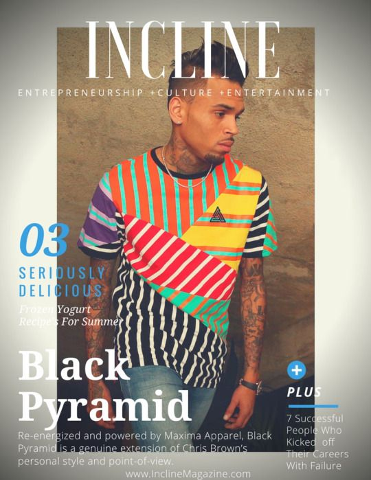 """""""Inspired by a range of independent subcultures, lifestyles and design, Black Pyramid is the progressive fashion line from entertainment and style icon, Chris Brown. Re-energized and powered by Maxima Apparel, Black Pyramid is a genuine extension of Chris Brown's personal style and point-of-view. The line mimics Chris'eclectic lifestyle, offering contemporary streetwear and denim-inspired looks —communicated through quality collections of cut-and-sew tops, bottoms, outerwear, tees, and…"""
