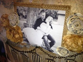 7gypsies 2013 Year in Review - Harmony Vintage wedding - black and white photos on burlap - amazing