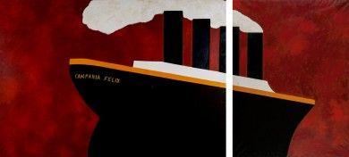 Ernesto Tatafiore - Blindarte shop. Painting. Blindarte. Campania. Napoli. Arte. Dipinto. Museo. Mostra. Esposizione. Fiera d'arte. Art Fair. Exhibition. Museum. Love art. Boat. Ship. Emigration. Dubai.