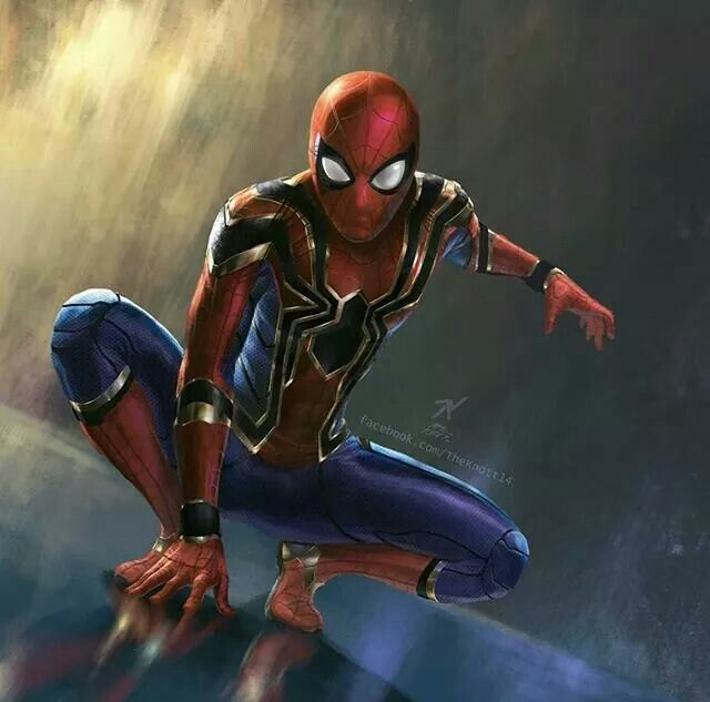 Spider man new Suit  is to be used on Avengers Infinity War! Can't wait!