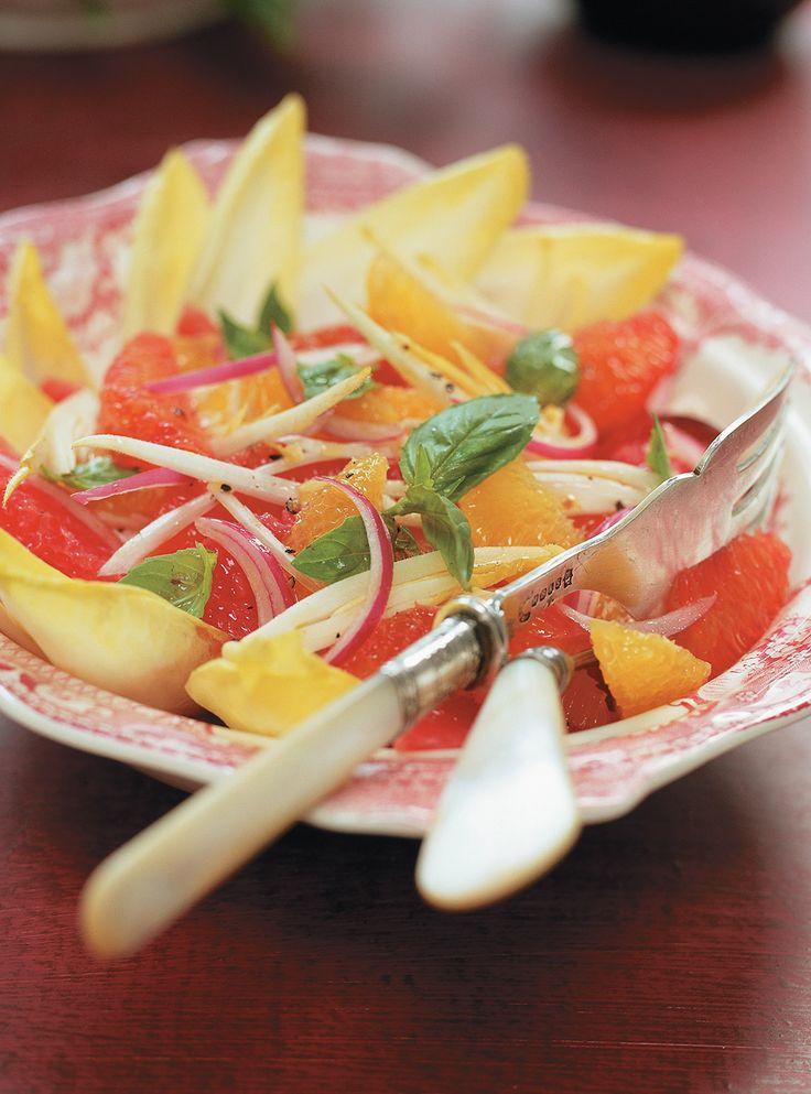 Recette de salade d'agrumes et d'endives de Ricardo. Recette rapide et santé à…