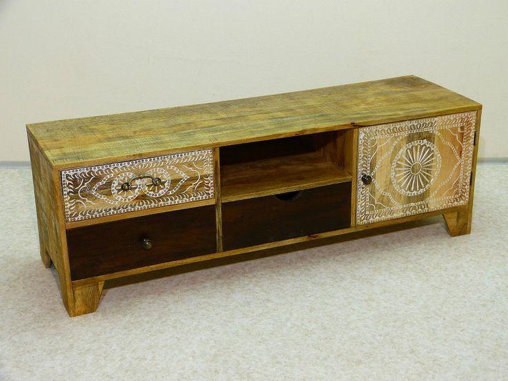 tv sideboard bank schrank m bel low board vintage shabby. Black Bedroom Furniture Sets. Home Design Ideas