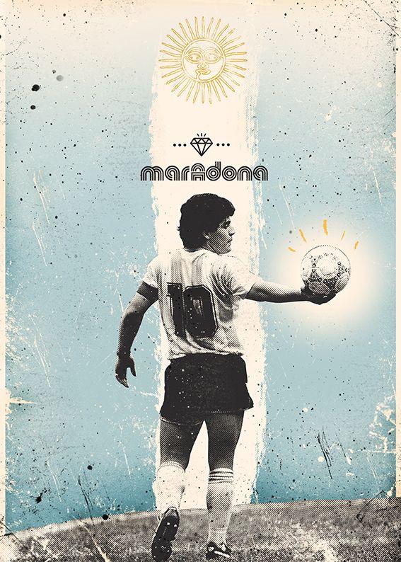 The Gods Of Football (Part II) on Pantone Canvas Gallery God Of Football, Legends Football, Football Icon, Football Soccer, Soccer World, World Football, Maradona Football, Argentina Football, Diego Armando