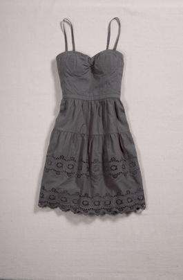 Grey eyelet lace sundress, or one in every color.