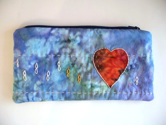 Had so much fun making this hand embellished zip pouch.