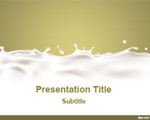 Dairy PowerPoint Template is a free milk template for PowerPoint presentations that you can download for presentations related to food and healthy alimentary