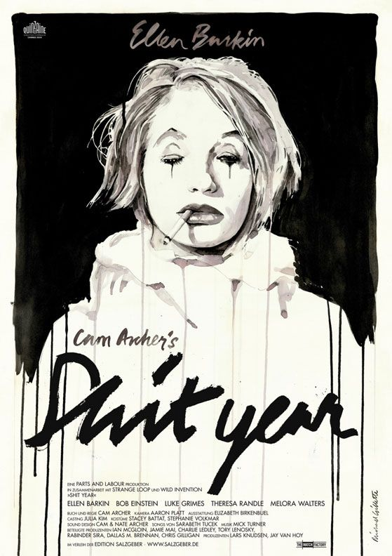 """poster for """"Shit Year"""" (a 2011 film I completely missed) by Michael Gillette. Beautifully done."""